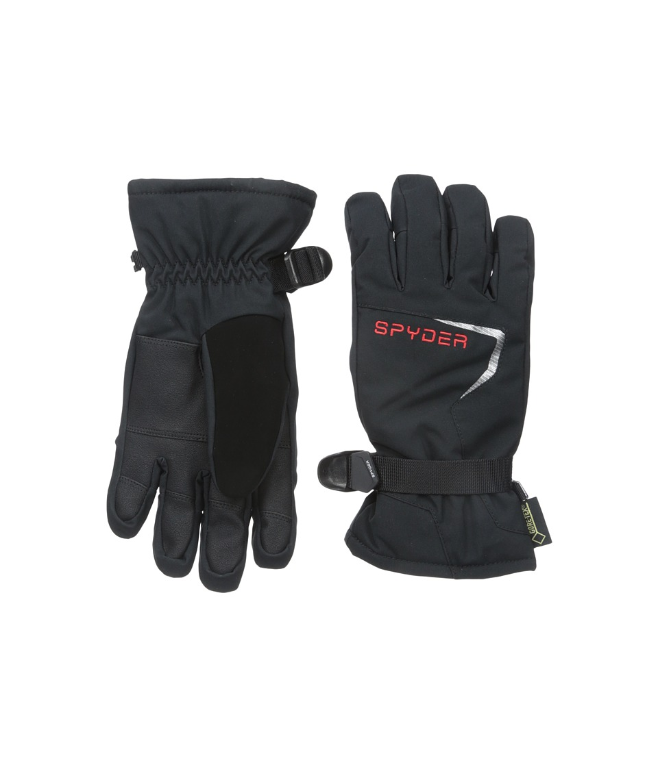 Spyder Kids - Traverse Ski Glove (Big Kids) (Black/Black/Volcano) Ski Gloves
