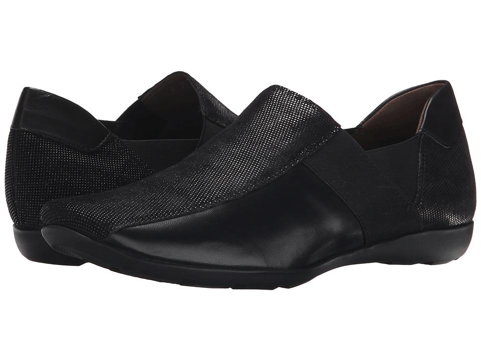 Sesto Meucci - Graham (Black Lab/Soft Black New Calf/Black Elastic) Women's Flat Shoes