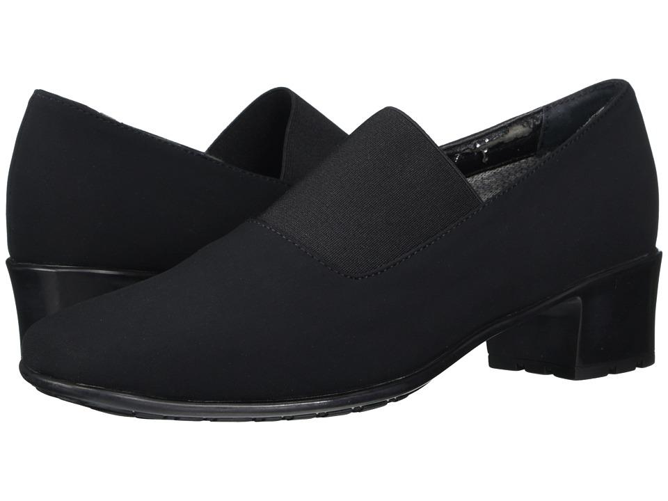 Sesto Meucci - Yunus (Black Micro Fabric/Black Elastic) Women's 1-2 inch heel Shoes
