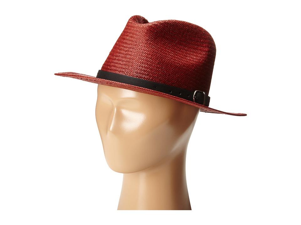 Brixton - Leighton Fedora (Burgundy) Fedora Hats