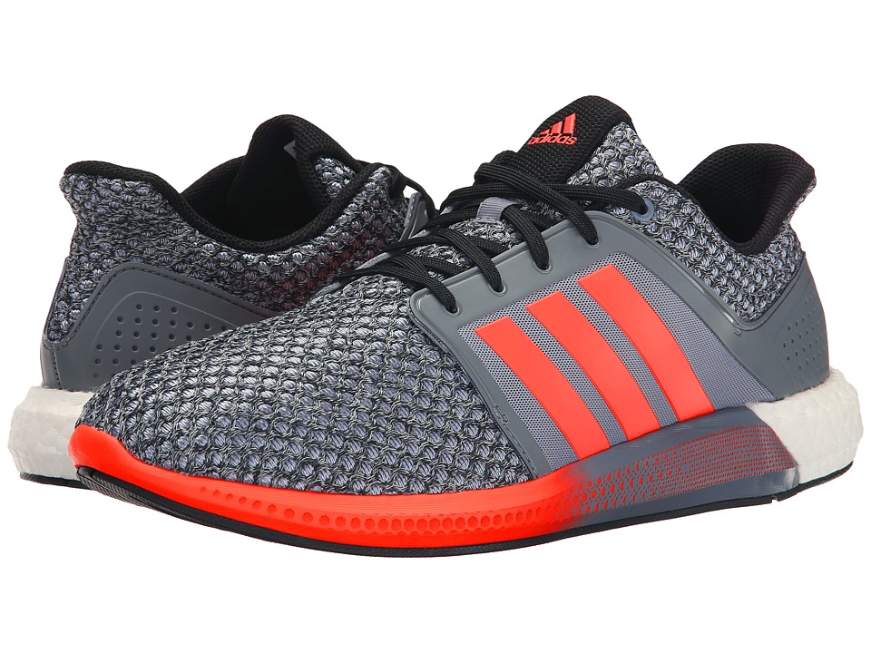 adidas Running - Solar Boost (Grey/Solar Red/Core Black) Men's Running Shoes