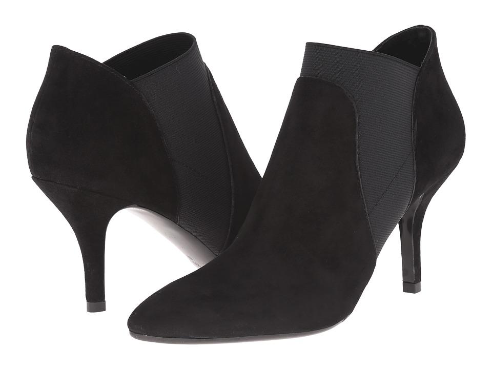 Vaneli - Kamelia (Black Suede/Black Elastic) High Heels