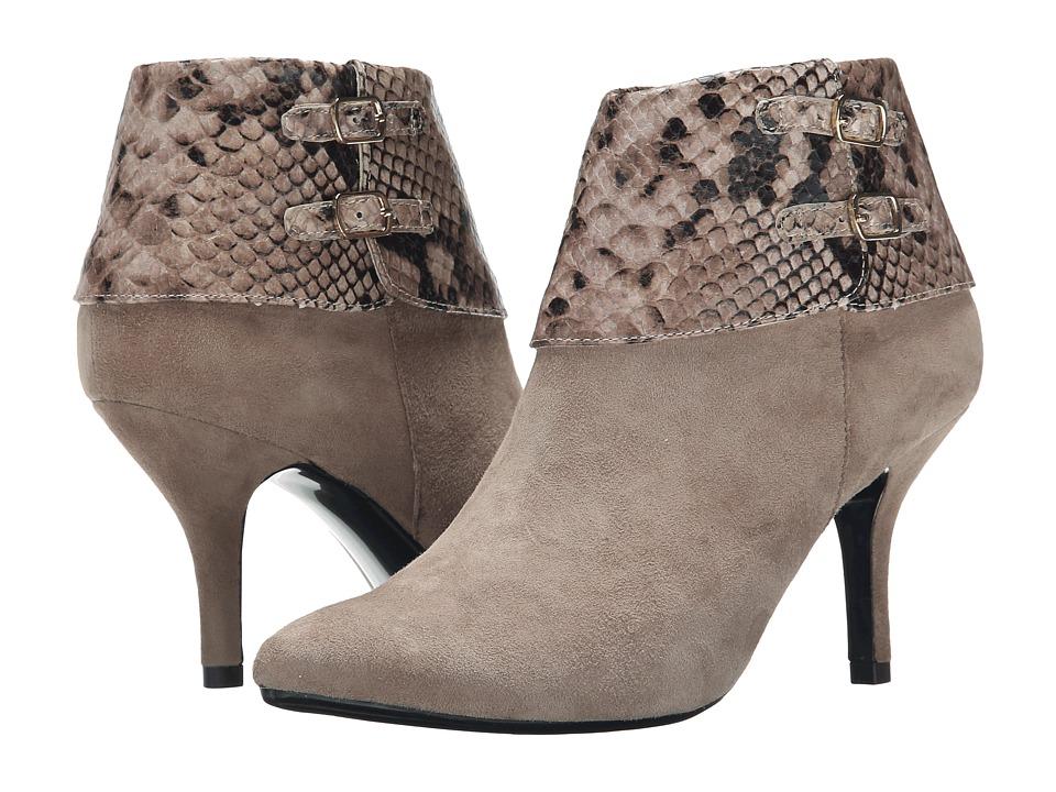Vaneli - Kandee (Truffle Suede/Truffle Dialux Print/Gold Trims) Women's Zip Boots
