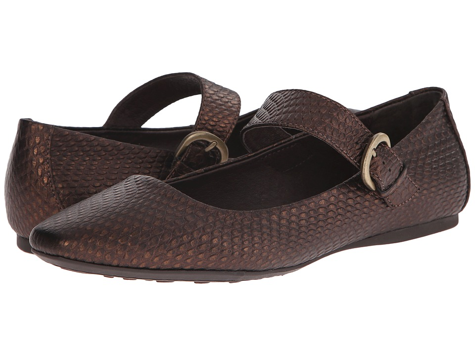 Born - Guthrie (Tobacco/Bronze Embossed Full Grain Leather) Women's Flat Shoes