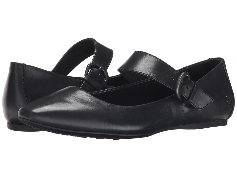 Born - Guthrie (Black Full Grain Leather) Women's Flat Shoes