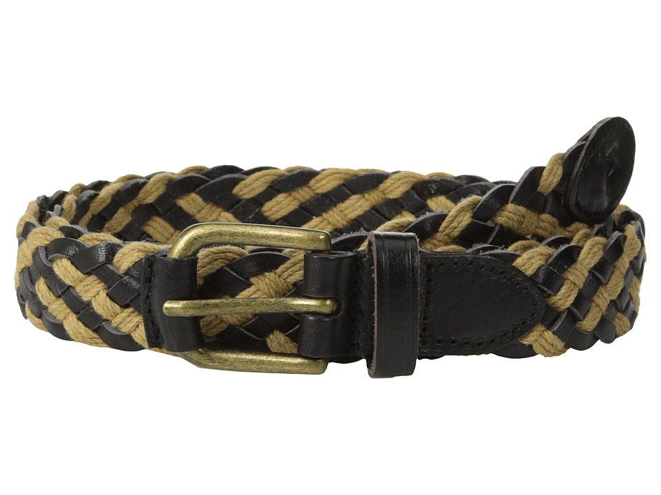 Scotch & Soda - Braided Leather Cord Belt (Black/Brown) Men's Belts