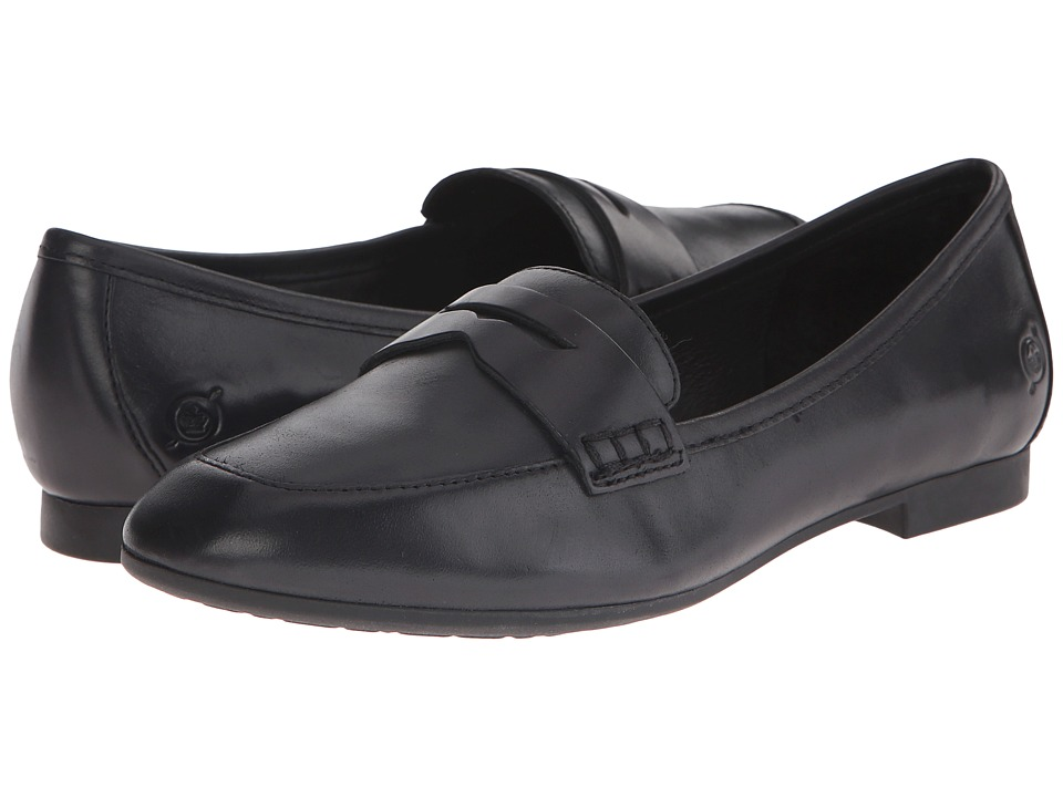 Born - Pelton (Black Full Grain Leather) Women's Slip on Shoes