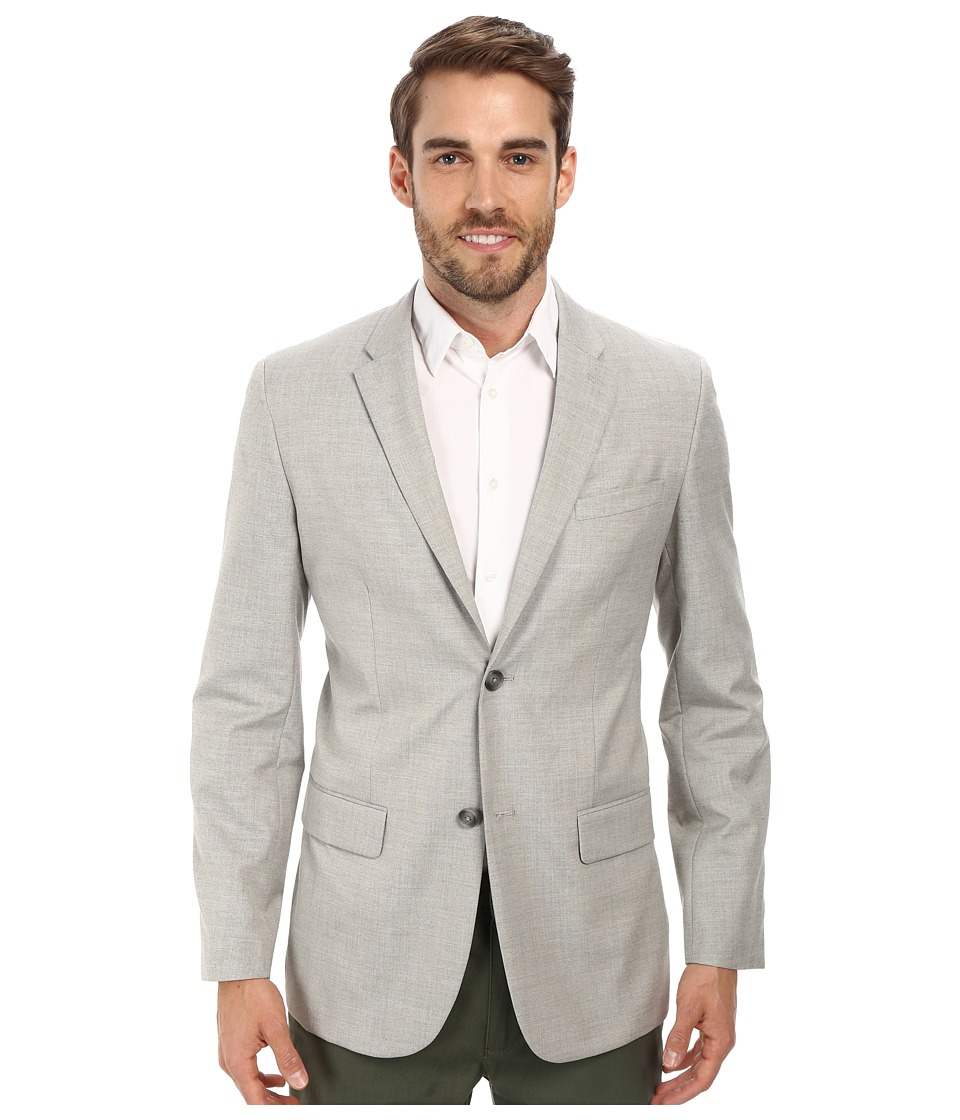 Perry Ellis - End On End Suit Jacket (Alloy) Men