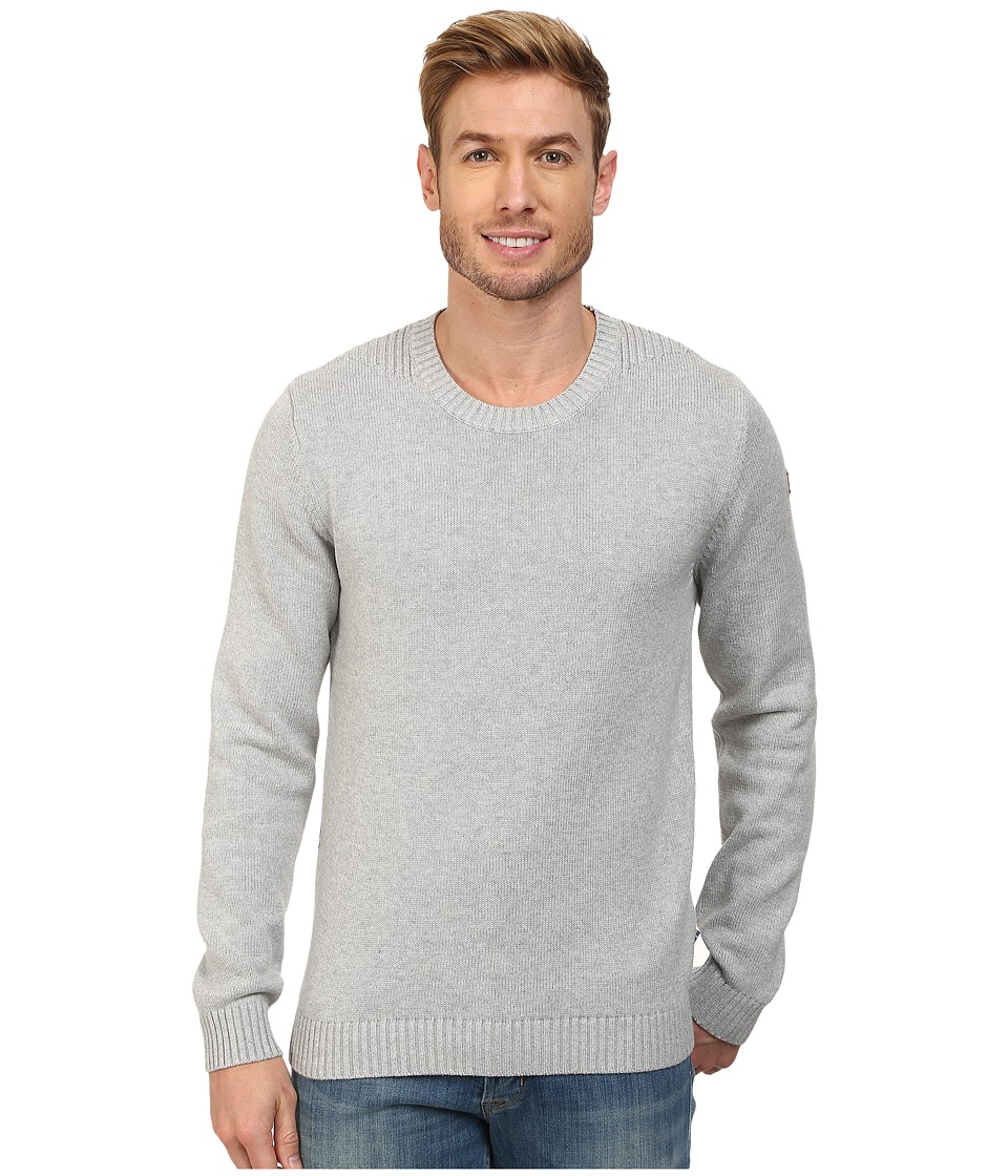 Fjallraven - Ovik Crew Sweater (Light Grey) Men's Sweater