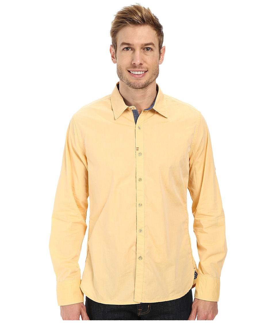 Robert Graham - Coconut Grove Tailored Fit Long Sleeve Woven Sport Shirt (Amber) Men's Long Sleeve Button Up