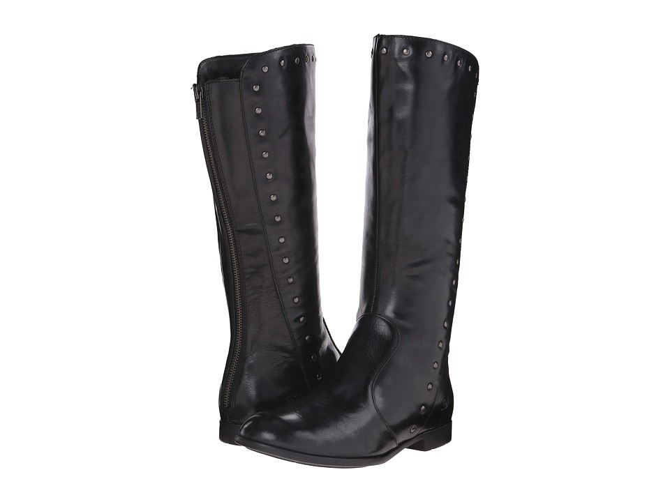 Born - Larsen (Black Full Grain Leather) Women's Zip Boots