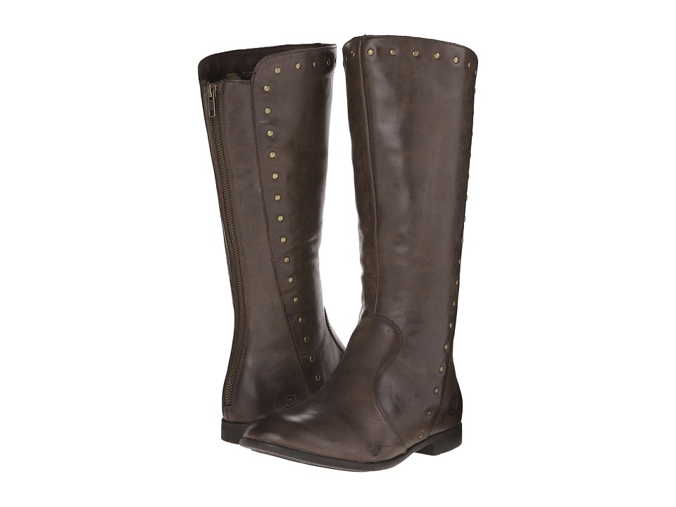 Born - Larsen (Espresso/Dark Brown Full Grain Leather) Women's Zip Boots