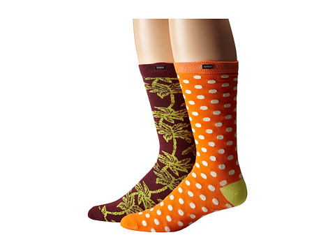Scotch & Soda - Patterned Socks - 2-Pack (Multi) Men's Crew Cut Socks Shoes