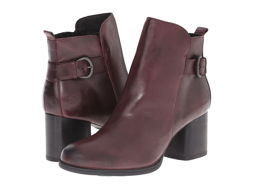Born - Gillian (Dark Burgundy Full Grain Leather) Women's Boots