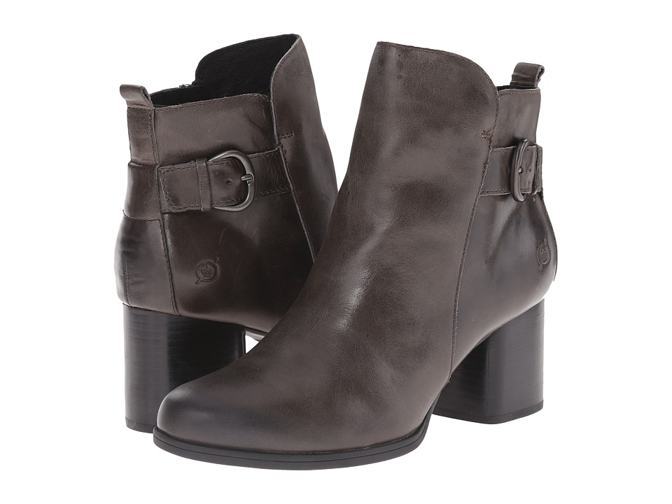 Born - Gillian (Dark Grey Full Grain Leather) Women's Boots