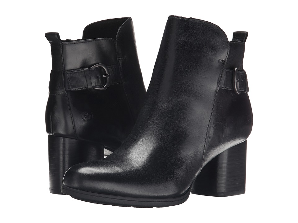 Born Gillian (Black Full Grain Leather) Women