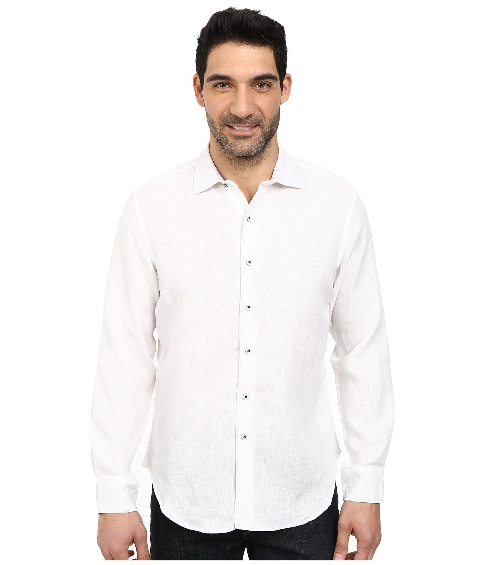 Robert Graham - Kinship Long Sleeve Woven Shirt (White) Men's Long Sleeve Button Up
