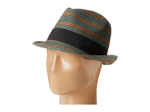 Scotch & Soda - Retro Striped Straw Hat (Green) Caps