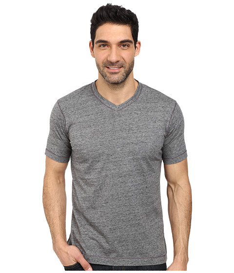 Robert Graham - Battleship Short Sleeve Knit T-Shirt (Heather Black) Men's T Shirt