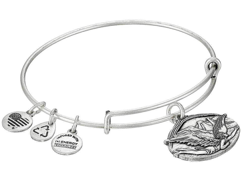 Alex and Ani - Guardian of Freedom Charm Bangle (Rafaelian Silver Finish) Charms Bracelet