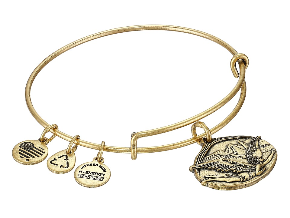 Alex and Ani - Guardian of Freedom Charm Bangle (Rafaelian Gold Finish) Charms Bracelet