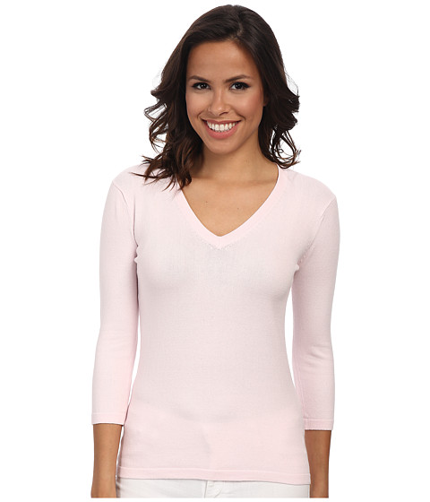 525 america - Basic V-Neck 3/4 Sleeve (Ballet Slipper) Women's Long Sleeve Pullover