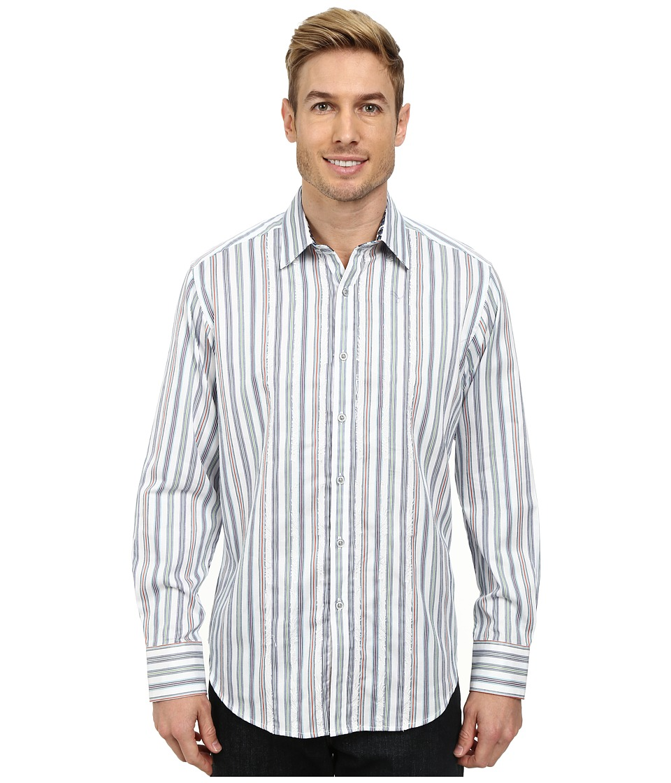 Robert Graham - Barrow Long Sleeve Woven Shirt (White) Men's Clothing