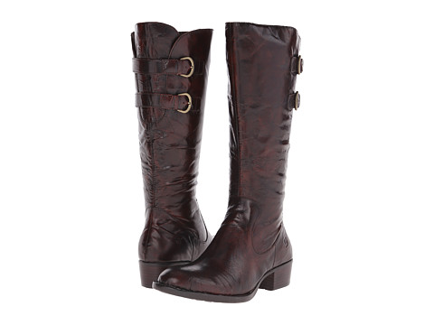 Born - Berry (Tan Burnished Brush-Off) Women's Zip Boots