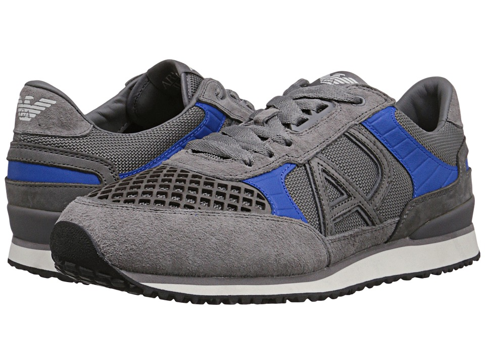 Armani Jeans - Mesh Upper Trainer (Grey) Men