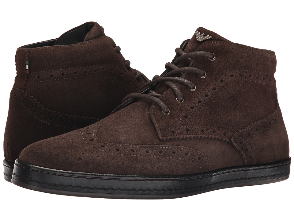 Armani Jeans - Wingtip Boot (Brown) Men's Boots
