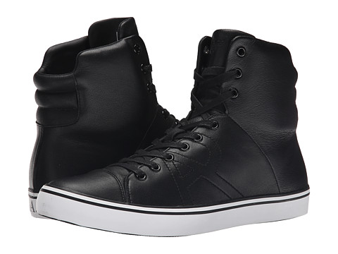 Armani Jeans - Leather Hi-Top (Black) Men's Shoes