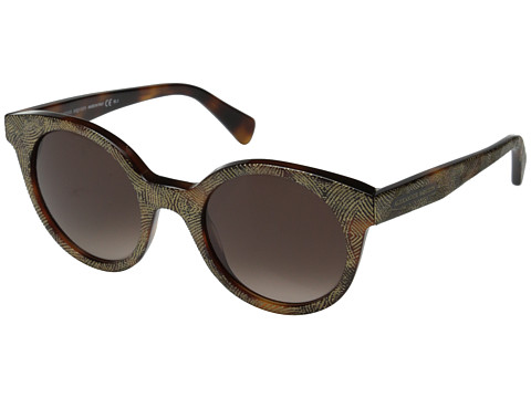 Alexander McQueen - AMQ 4275/S (Havana Gold/Brown Gradient) Fashion Sunglasses