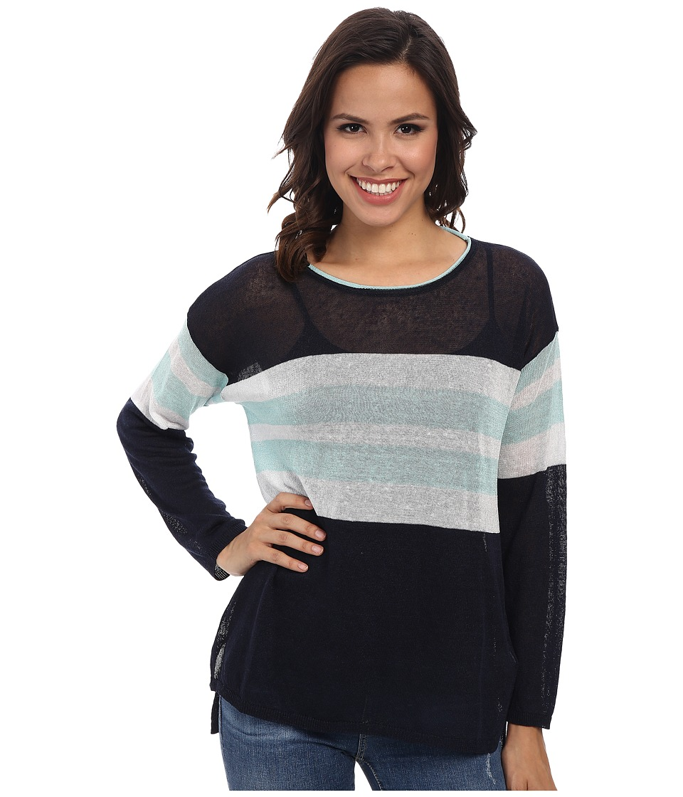 Image of 525 america - Crew Neck Hi-Lo (Classic Nacy Combo) Women's Clothing