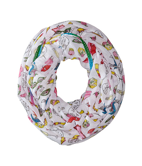 Betsey Johnson - Iconic Iconics Infinity (White) Scarves