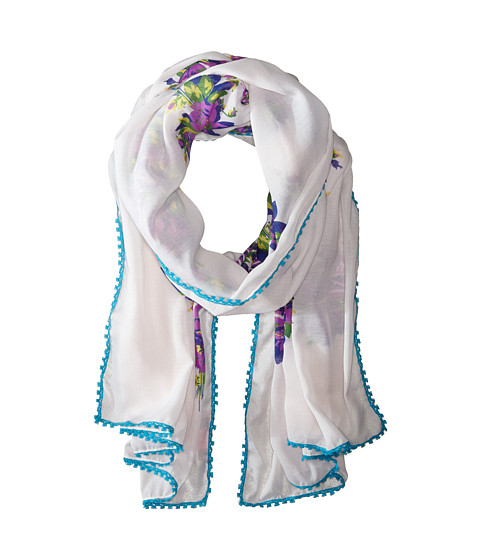 Betsey Johnson - Spacedye Lace Scarf (Cool) Scarves