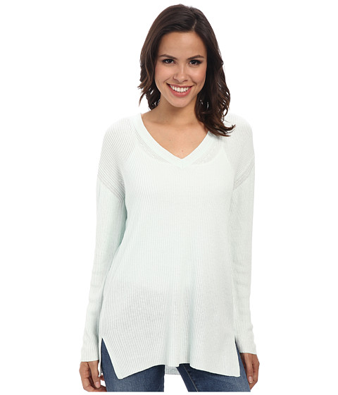 525 america - V-Neck Tunic (Honeydew) Women's Long Sleeve Pullover