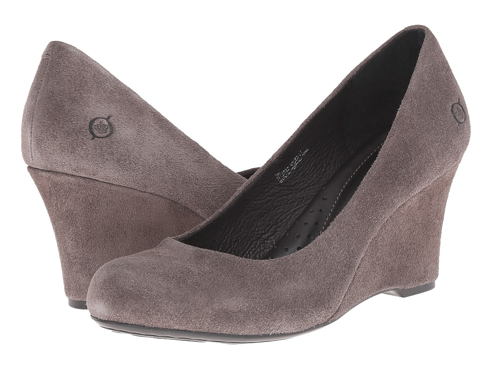 Born - London - Crown Collection (Grey Suede) Women's Wedge Shoes
