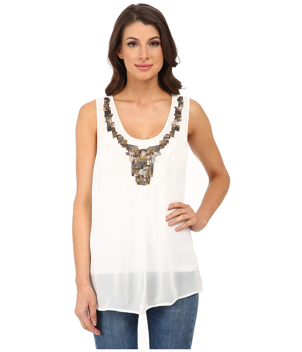 Dylan by True Grit - Sleeveless Flowy Blouse (Vintage White) Women's Blouse