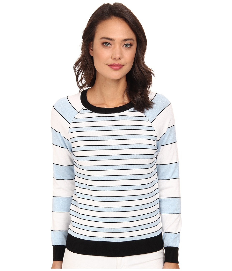 525 america - Crew Neck Stripe (Black Combo) Women's Long Sleeve Pullover