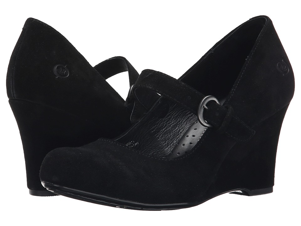 Born - Jordana (Black Suede) Women's Wedge Shoes