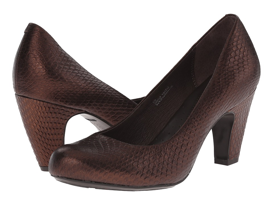 Born - Sabrina - Crown Collection (Tobacco/Bronze Embossed Full Grain Leather) Women's Shoes