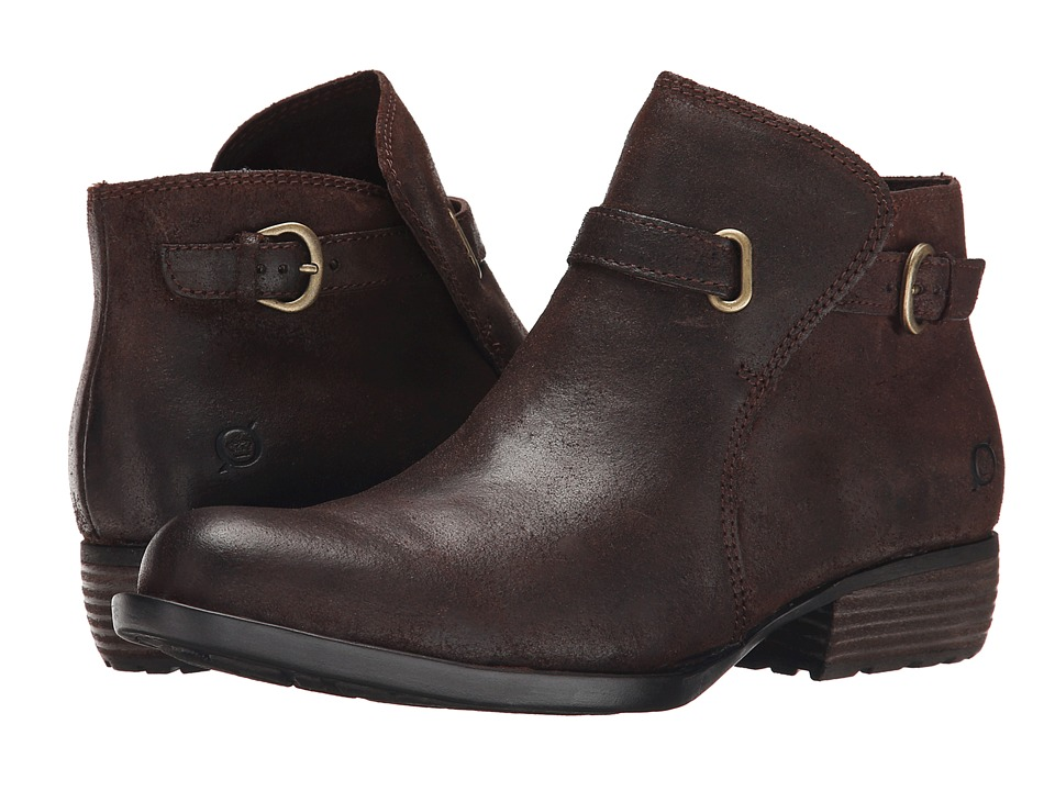 Born - Jem (Castagno/Dark Brown Oiled Suede) Women's Shoes