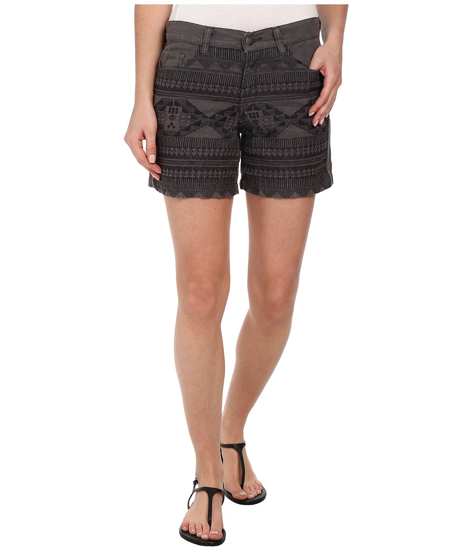 Dylan by True Grit - Embroidered Five-Pocket Shorts (Charcoal) Women's Shorts