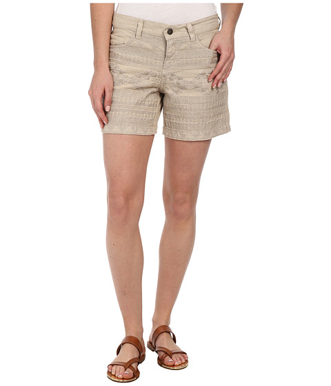 Dylan by True Grit - Embroidered Five-Pocket Shorts (Vintage Khaki) Women