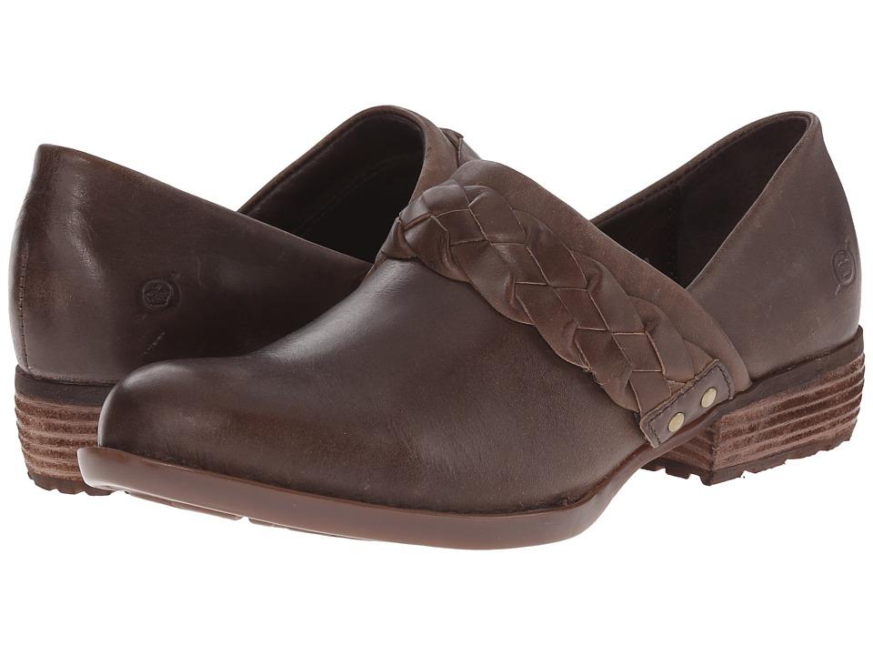 Born - Hensley (Safari/Taupe Full Grain Leather) Women's Clog Shoes