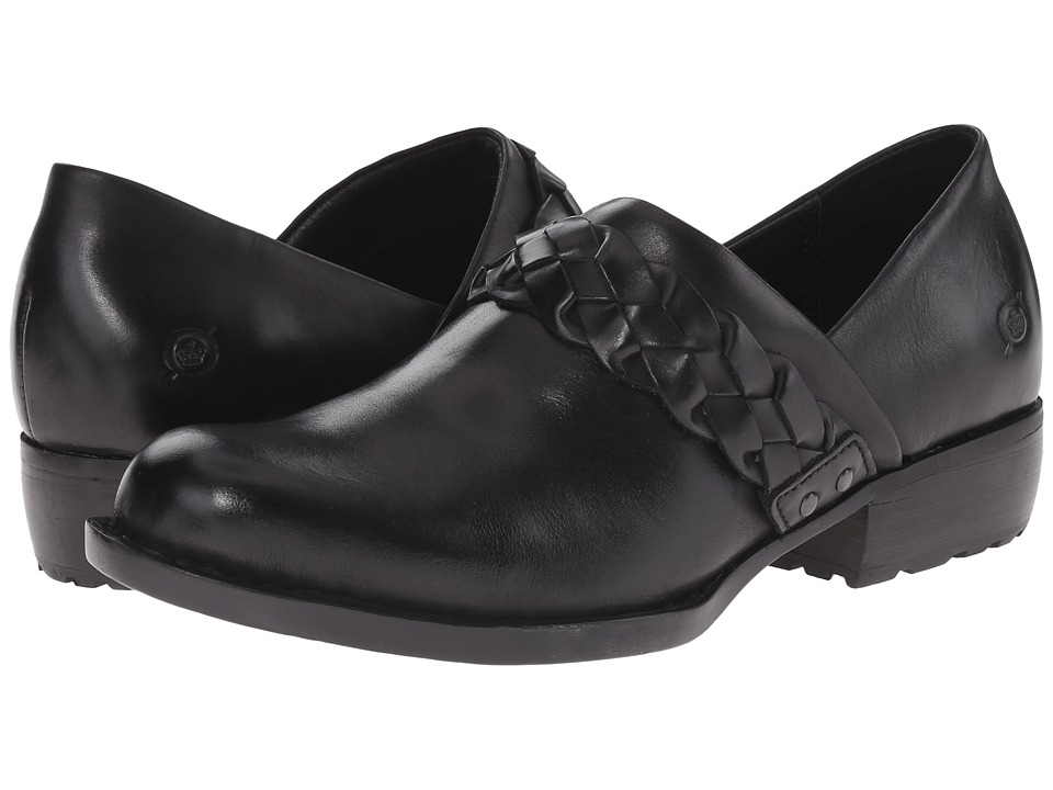 Born - Hensley (Black Full Grain Leather) Women's Clog Shoes