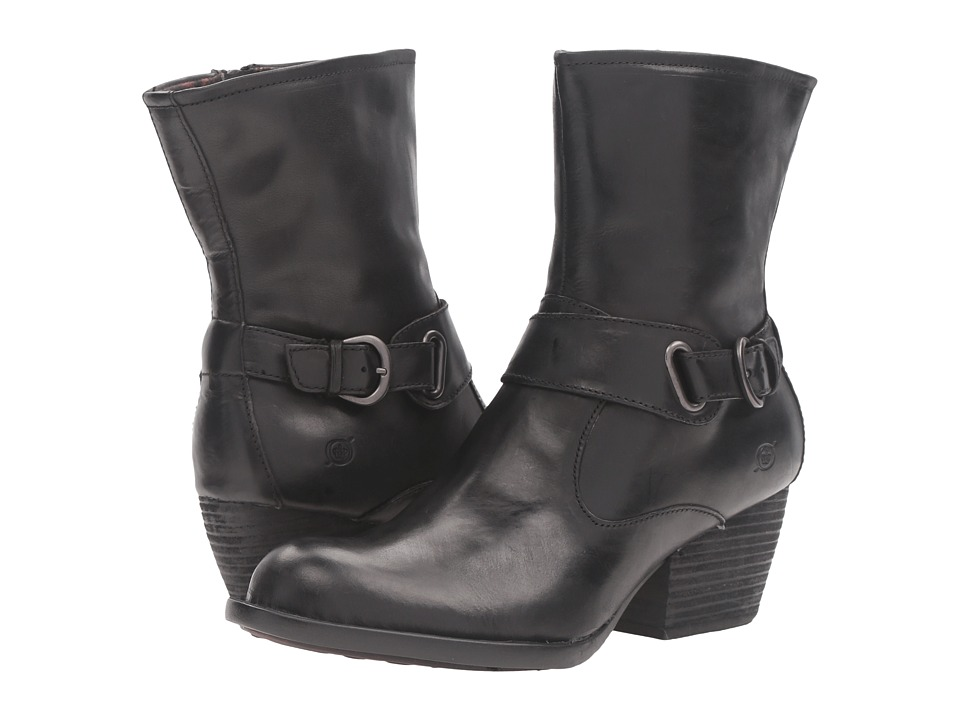 Born Nevica (Black Full Grain Leather) Women
