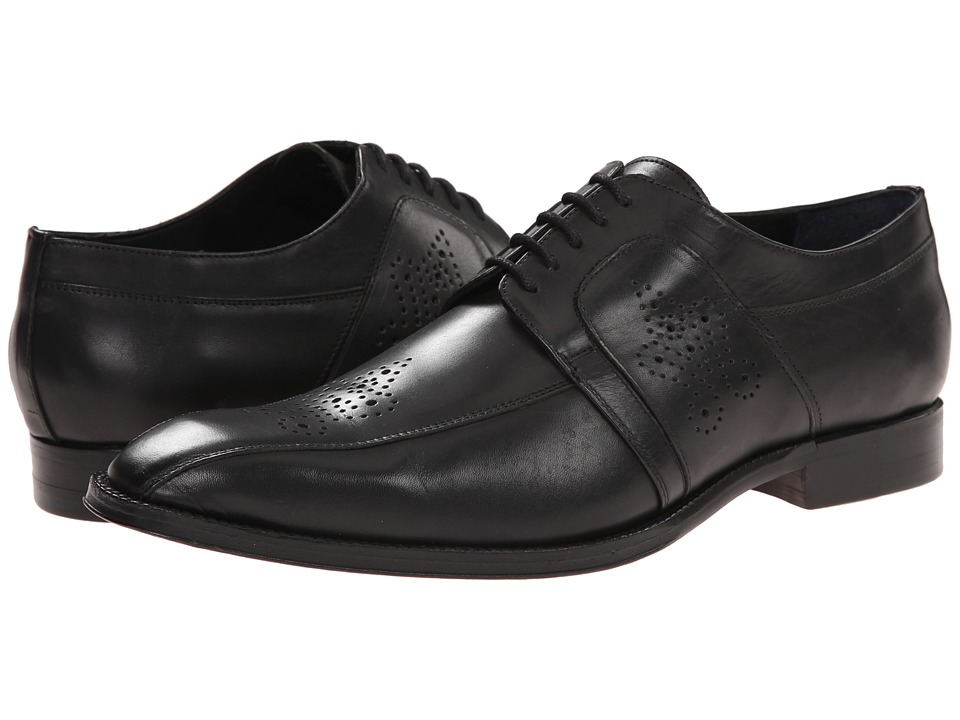 Messico - Cristiano (Black Leather) Men's Dress Flat Shoes