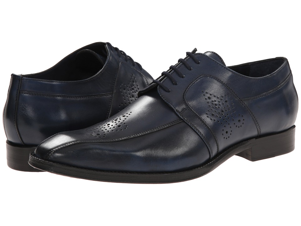 Messico - Cristiano (Navy Leather) Men's Dress Flat Shoes
