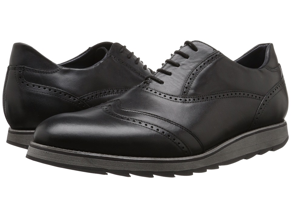Messico - Orlando (Black Leather) Men's Dress Flat Shoes